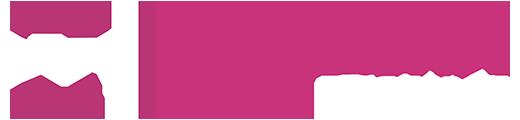 logo blanc et rose caplain machines